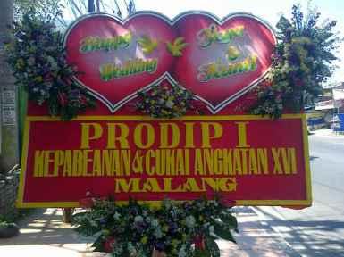 Jual Karangan Bunga Papan Wedding Surabaya - 08123.5931.288